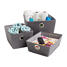 Orbit Storage Bins GrayWhite Set Of