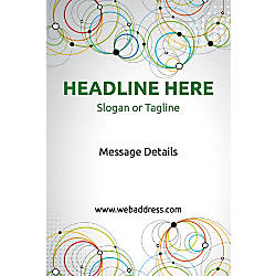 Custom Vertical Poster Abstract Circles