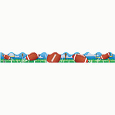 Eureka Deco Trim Strips Football Assorted