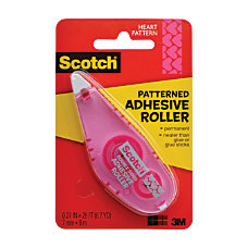 Scotch Adhesive Dot Roller Patterned Pink