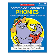 Activity Books Scrambled Sentences Phonics Grades