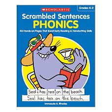 Activity Books Scrambled Sentences Phonics Grades