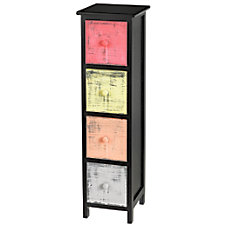 Realspace 4 Drawer Slim Storage Cabinet