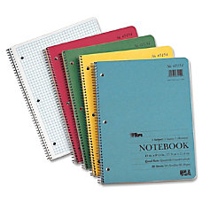 TOPS Notebook 80 Sheets Printed Wire
