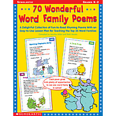 Scholastic 70 Word Family Poems