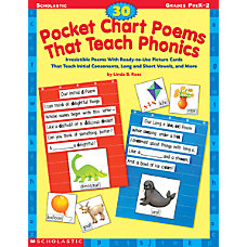 Scholastic Phonics Pocket Chart Poems