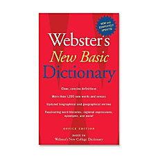Houghton Mifflin Websters New Basic Dictionary