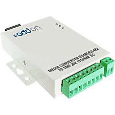 AddOn Fiber to Serial Media Converter