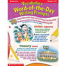 Scholastic Vocabulary Writing Prompt