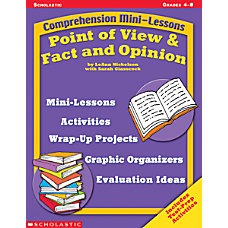 Scholastic Point ViewFact Opinion Lessons