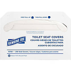 Genuine Joe Toilet Seat Covers White