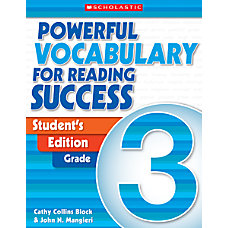 Scholastic Powerful Vocabulary For Reading Success