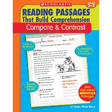 Scholastic Comprehension CompareContrast Grades 2 3