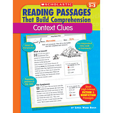 Scholastic Comprehension Context Clues Grades 2