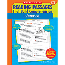 Scholastic Comprehension Inference Grades 2 3