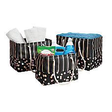 GNBI Collapsible Storage Baskets BlackGold Pack