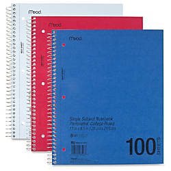 Mead Mid Tier Notebook 8 12