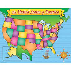Scholastic Practice Chart USA Map 17