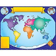 Scholastic Practice Chart World Map 17