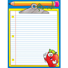 Scholastic Practice Chart Clipboard 17 x