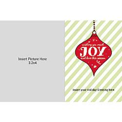 Photo Greeting Card Horizontal Joy With
