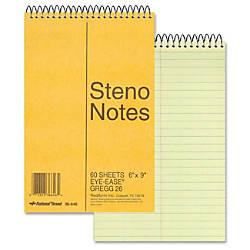 Rediform Wirebound Steno Notebook 60 Sheets