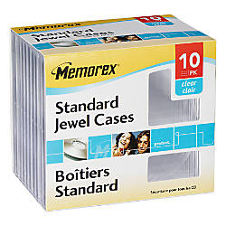 Memorex CD Jewel Cases Standard Size