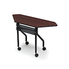 Iceberg OfficeWorks Mobile Training Table Trapezoid