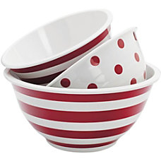 Anchor 3pc Decorated Melamine Mix Bowl