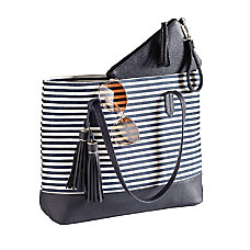 GNBI 2 Piece Tote Set BlueWhite