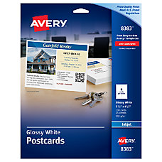 Avery Inkjet Post Cards 4 14