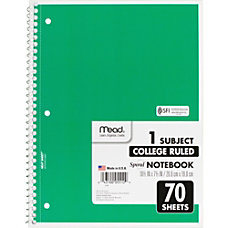 Mead 1 Subject Wirebound Ruled Notebook