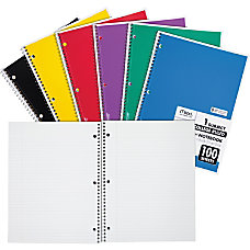 Mead One Subject Notebook 100 Sheets