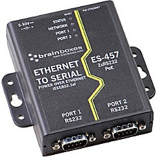 Brainboxes Ethernet 2 Port RS232 Power