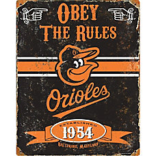 Party Animal Baltimore Orioles Embossed Metal