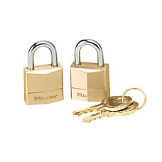 Master Lock Three Pin Brass Tumbler