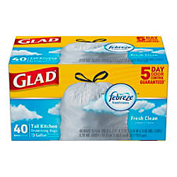 Glad OdorShield Tall Kitchen Trash Bags