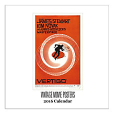 Retrospect Monthly Square Wall Calendar Vintage