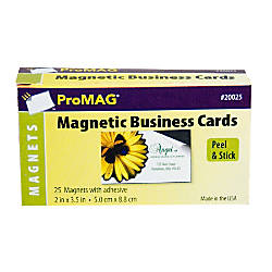 ProMAG Adhesive Business Card Magnets Pack 25 by fice