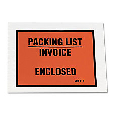 3M Packing ListInvoice Enclosed Envelope Packing