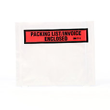 3M Packing ListInvoice Enclosed Envelopes Top