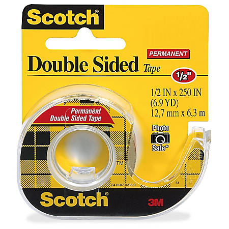scotch double sided tape in a handheld dispenser width x ft length 1 core acrylate 3. Black Bedroom Furniture Sets. Home Design Ideas