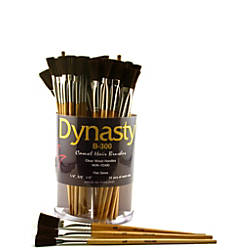 Dynasty Camel Hair Flat Paint Brushes