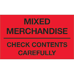 Tape Logic Preprinted Labels Mixed Merchandise
