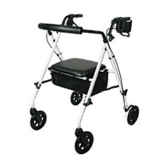 Guardian Ultralight Rollator 6 Wheels White