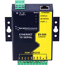 Brainboxes Ethernet 1 Port RS232 10xScrew