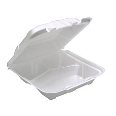 Pactiv Foam Conventional Hinged Lid Containers