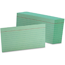 Oxford Colored Ruled Index Cards 100