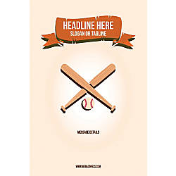 Custom Vertical Poster Baseball