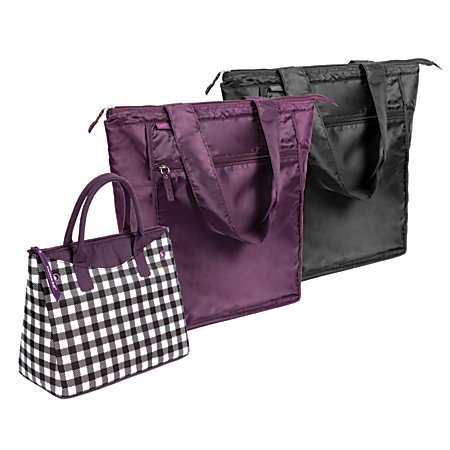 Rachael Ray 3 Piece Westward And Market Tote Combo Gingham
